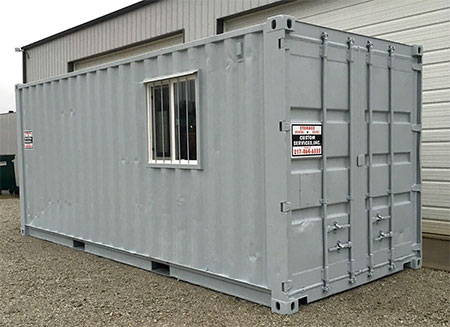 portable storage container trailer
