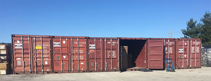 custom services inc delivers storage containers